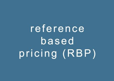 reference based pricing (RBP)
