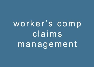 worker's compensation claims management
